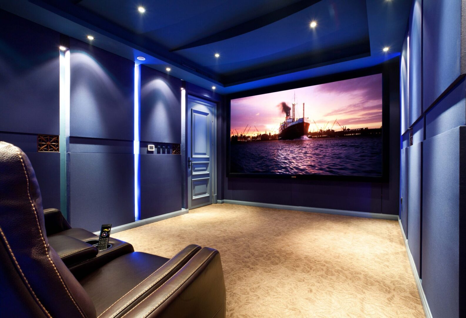 2013 CEDIA Best Theater under 75,000 Winner Installed 3 AE 963's LCR's and 4 AE 653's for Sides and rears.  Theater installed by Zene Private Theater